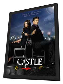 Castle (TV) - 11 x 17 TV Poster - Style C - in Deluxe Wood Frame