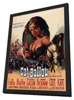 Cat Ballou - 27 x 40 Movie Poster - Style B - in Deluxe Wood Frame