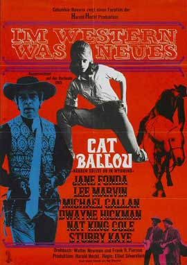 Cat Ballou - 11 x 17 Movie Poster - German Style A