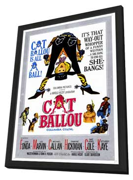 Cat Ballou - 11 x 17 Movie Poster - Style A - in Deluxe Wood Frame