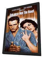 Cat on a Hot Tin Roof - 11 x 17 Movie Poster - Style D - in Deluxe Wood Frame