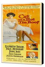 Cat on a Hot Tin Roof - 14 x 36 Movie Poster - Insert Style A - Museum Wrapped Canvas