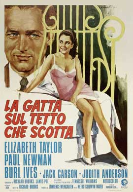 Cat on a Hot Tin Roof - 27 x 40 Movie Poster - Italian Style A
