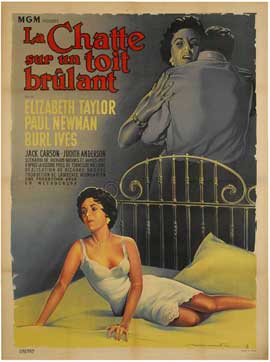 Cat on a Hot Tin Roof - 11 x 17 Movie Poster - French Style A