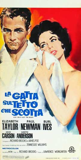 Cat on a Hot Tin Roof - 20 x 40 Movie Poster - Italian Style A