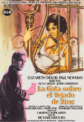 Cat on a Hot Tin Roof - 27 x 40 Movie Poster - Spanish Style A