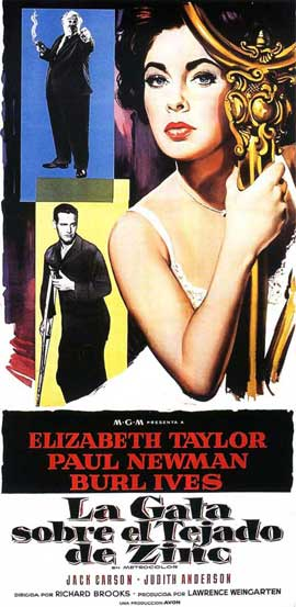 Cat on a Hot Tin Roof - 20 x 40 Movie Poster - Spain Style A