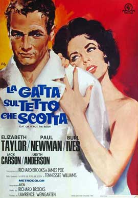 Cat on a Hot Tin Roof - 11 x 17 Movie Poster - Italian Style C