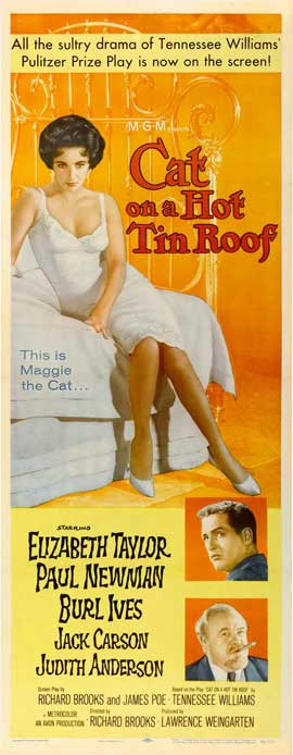 Cat on a Hot Tin Roof - 14 x 36 Movie Poster - Insert Style A