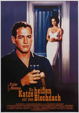 Cat on a Hot Tin Roof - 27 x 40 Movie Poster - German Style A