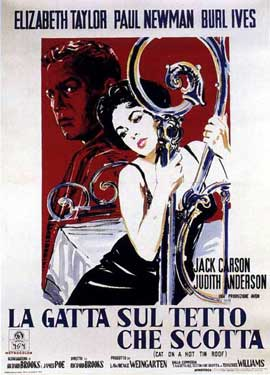 Cat on a Hot Tin Roof - 11 x 17 Movie Poster - Italian Style D