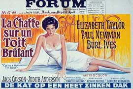 Cat on a Hot Tin Roof - 11 x 17 Movie Poster - French Style B