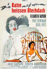 Cat on a Hot Tin Roof - 11 x 17 Movie Poster - German Style B