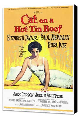 Cat on a Hot Tin Roof - 27 x 40 Movie Poster - Style A - Museum Wrapped Canvas