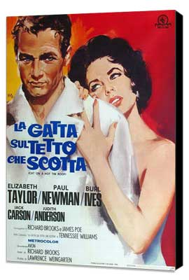 Cat on a Hot Tin Roof - 27 x 40 Movie Poster - Italian Style B - Museum Wrapped Canvas