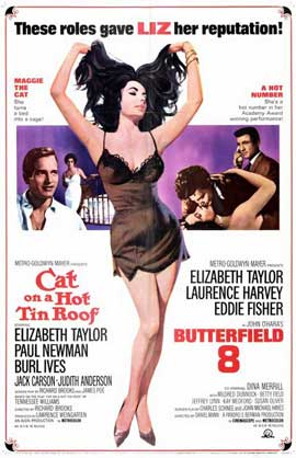 Cat on a Hot Tin Roof/Butterfield 8 - 11 x 17 Movie Poster - Style A