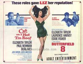 Cat on a Hot Tin Roof/Butterfield 8 - 11 x 14 Movie Poster - Style A