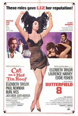 Cat on a Hot Tin Roof/Butterfield 8 - 27 x 40 Movie Poster - Style A