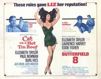 Cat on a Hot Tin Roof/Butterfield 8 - 22 x 28 Movie Poster - Half Sheet Style A