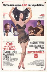 Cat on a Hot Tin Roof/Butterfield 8 - 43 x 62 Movie Poster - Bus Shelter Style A