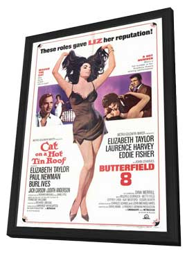 Cat on a Hot Tin Roof/Butterfield 8 - 27 x 40 Movie Poster - Style A - in Deluxe Wood Frame