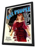 Cat People - 11 x 17 Movie Poster - Style A - in Deluxe Wood Frame