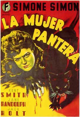 Cat People - 11 x 17 Movie Poster - Spanish Style A
