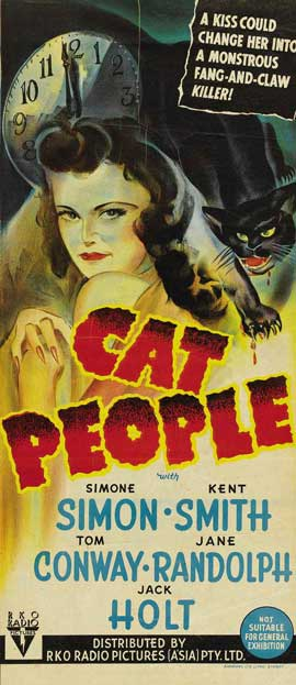 Cat People - 13 x 30 Movie Poster - Australian Style A