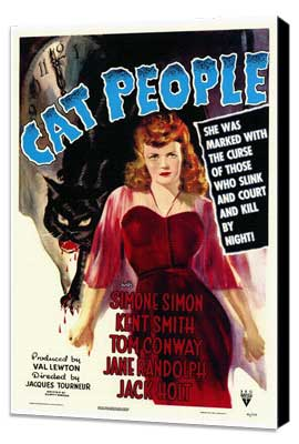 Cat People - 11 x 17 Movie Poster - Style A - Museum Wrapped Canvas
