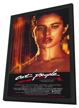 Cat People - 27 x 40 Movie Poster - Style A - in Deluxe Wood Frame