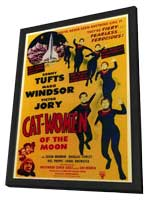 Cat Women of the Moon - 11 x 17 Movie Poster - Style A - in Deluxe Wood Frame