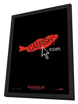 Catfish - 11 x 17 Movie Poster - Style A - in Deluxe Wood Frame