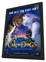 Cats & Dogs - 11 x 17 Movie Poster - Style A - in Deluxe Wood Frame