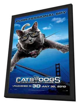 Cats & Dogs: The Revenge of Kitty Galore - 11 x 17 Movie Poster - Style C - in Deluxe Wood Frame