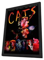 Cats (Broadway) - 14 x 22 Poster - Style A - in Deluxe Wood Frame