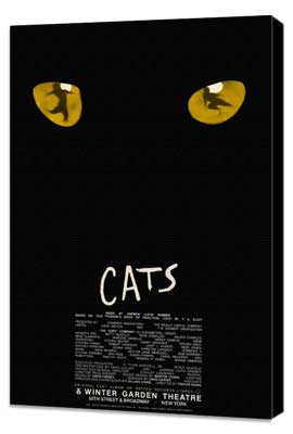 Cats (Broadway) - 27 x 40 Movie Poster - Style B - Museum Wrapped Canvas