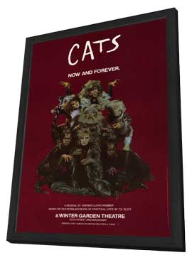 Cats (Broadway) - 11 x 17 Poster - Style B - in Deluxe Wood Frame