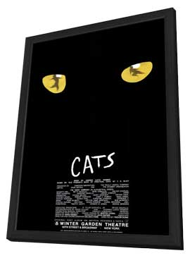 Cats (Broadway) - 27 x 40 Poster - Style A - in Deluxe Wood Frame