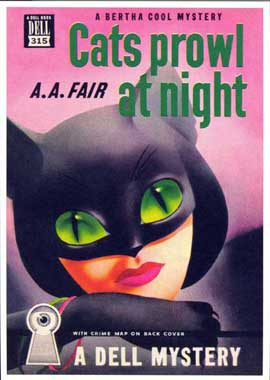 Cats Prowl at Night - 11 x 17 Retro Book Cover Poster
