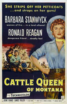 Cattle Queen of Montana - 11 x 17 Movie Poster - Style A