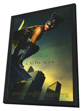 Catwoman - 11 x 17 Movie Poster - Style C - in Deluxe Wood Frame