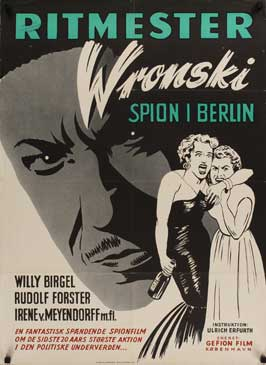 Cavalry Captain Wronski - 27 x 40 Movie Poster - Danish Style A