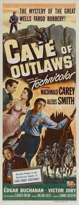 Cave of Outlaws - 14 x 36 Movie Poster - Insert Style A