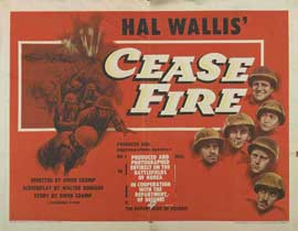 Cease Fire! - 22 x 28 Movie Poster - Half Sheet Style A