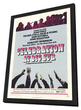 Celebration at Big Sur - 11 x 17 Movie Poster - Style A - in Deluxe Wood Frame