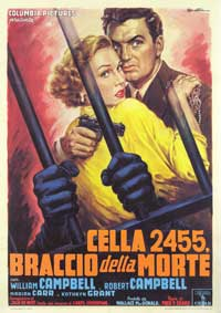 Cell 2455 Death Row - 27 x 40 Movie Poster - Italian Style A