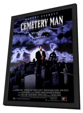 Cemetery Man - 11 x 17 Movie Poster - Style A - in Deluxe Wood Frame