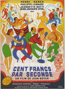 Cent francs par seconde - 27 x 40 Movie Poster - French Style A