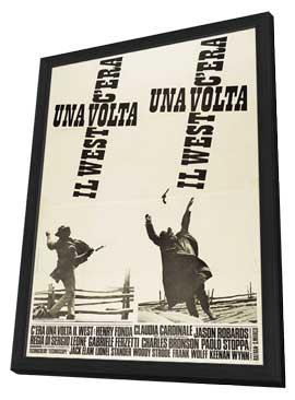 C'era una volta il West - 27 x 40 Movie Poster - Italian Style A - in Deluxe Wood Frame