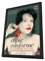 Certified Copy - 11 x 17 Movie Poster - French Style A - in Deluxe Wood Frame